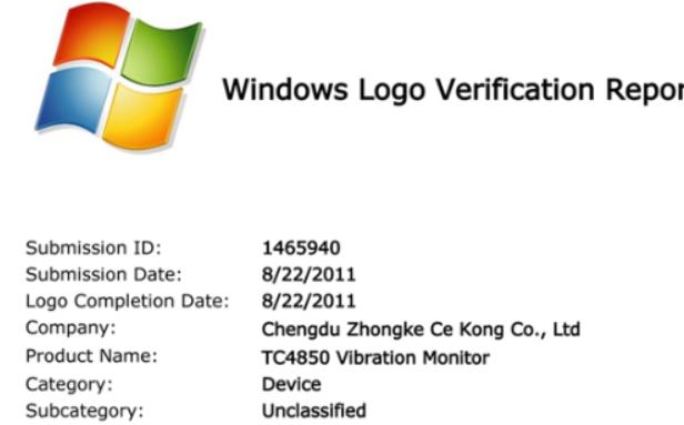 TC-4850驱动获微软WHQL认证彻底解决win7系统兼容性问题
