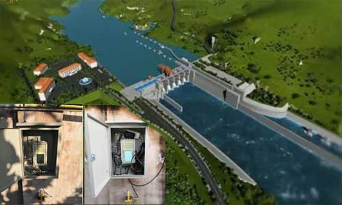 清水江航电枢纽无线网络测振仪自动化监测